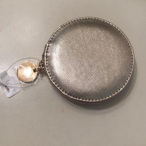 "LOFT gold zip up mirror ""hey beautiful"" NWT"